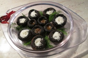 Ciuperci cu unt la cuptor